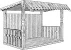 Павильон - Дачный :: Беседки изготовленные из благородных пород дерева, можно заказать по телефонам: 8 (495) 783-65-09, 8 (495) 518-64-87