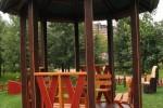 Беседка - Парнас с соломенной крышей :: Беседки изготовленные из благородных пород дерева, можно заказать по телефонам: 8 (495) 783-65-09, 8 (495) 518-64-87