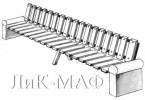 Скамья с бетонными тумбами длинная :: Скамейки и лавки изготовленные из дерева, можно заказать по телефонам: 8 (495) 783-65-09, 8 (495) 518-64-87