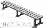 Скамья - Прямая длинная :: Скамейки и лавки изготовленные из дерева, можно заказать по телефонам: 8 (495) 783-65-09, 8 (495) 518-64-87