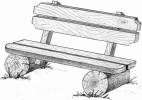 Скамья - Лесная :: Скамейки и лавки изготовленные из дерева, можно заказать по телефонам: 8 (495) 783-65-09, 8 (495) 518-64-87