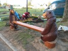 Скамья - Медведи :: Скамейки и лавки изготовленные из дерева, можно заказать по телефонам: 8 (495) 783-65-09, 8 (495) 518-64-87