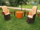 Кресло - Пень :: Скамейки и лавки изготовленные из дерева, можно заказать по телефонам: 8 (495) 783-65-09, 8 (495) 518-64-87