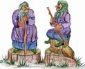 Скульптура - Баба Яга (маленькая) :: Заказать изготовление скульптур из дерева, Вы можете по телефонам: 8 (495) 783-65-09, 8 (495) 518-64-87