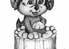 Скульптура - Щенок (малая) :: Заказать изготовление скульптур из дерева, Вы можете по телефонам: 8 (495) 783-65-09, 8 (495) 518-64-87