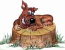 Скульптура - Собака злая (большая) :: Заказать изготовление скульптур из дерева, Вы можете по телефонам: 8 (495) 783-65-09, 8 (495) 518-64-87