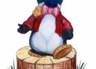 Скульптура - Пингвин (средняя) :: Заказать изготовление скульптур из дерева, Вы можете по телефонам: 8 (495) 783-65-09, 8 (495) 518-64-87