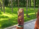 Скульптура - Мишка косолапый (большая) :: Заказать изготовление скульптур из дерева, Вы можете по телефонам: 8 (495) 783-65-09, 8 (495) 518-64-87