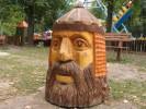 Скульптура - Голова Руслана (средняя) :: Заказать изготовление скульптур из дерева, Вы можете по телефонам: 8 (495) 783-65-09, 8 (495) 518-64-87