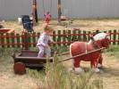 Скульптура - Лошадки с тележкой (большая) :: Заказать изготовление скульптур из дерева, Вы можете по телефонам: 8 (495) 783-65-09, 8 (495) 518-64-87