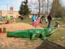 Скульптура - Крокодил (большая) :: Заказать изготовление деревянных скульптур, Вы можете по телефонам: 8 (495) 783-65-09, 8 (495) 518-64-87