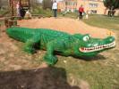 Скульптура - Крокодил (средняя) :: Заказать изготовление скульптур из дерева, Вы можете по телефонам: 8 (495) 783-65-09, 8 (495) 518-64-87