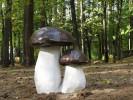 Скульптура - Гриб двойной белый (большая) :: Заказать изготовление скульптур из дерева, Вы можете по телефонам: 8 (495) 783-65-09, 8 (495) 518-64-87