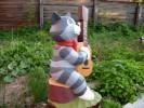 Скульптура - Кот Матроскин (средняя) :: Заказать изготовление скульптур из дерева, Вы можете по телефонам: 8 (495) 783-65-09, 8 (495) 518-64-87