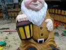 Скульптура - Гном 1 шт. (маленькая) :: Заказать изготовление скульптур из дерева, Вы можете по телефонам: 8 (495) 783-65-09, 8 (495) 518-64-87