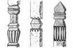 Столбы - Резные и, к, л, м, н 1 шт. :: Заказать изготовление резных столбов из дерева можно по телефонам: 8 (495) 783-65-09, 8 (495) 518-64-87