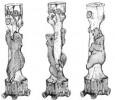 Столб - Мишка (большой) :: Проконсультироваться и купить резные столбы(из дерева), Вы можете по телефонам: 8 (495) 783-65-09, 8 (495) 518-64-87