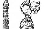 Столб - Петушок :: Проконсультироваться и купить резные столбы(из дерева), Вы можете по телефонам: 8 (495) 783-65-09, 8 (495) 518-64-87