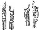 Столб - Павлин 1, 2, 3, 4 :: Заказать изготовление резных столбов из дерева можно по телефонам: 8 (495) 783-65-09, 8 (495) 518-64-87