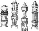 Столбы - Резные а, б, в, г 1 шт. :: Заказать изготовление резных столбов из дерева можно по телефонам: 8 (495) 783-65-09, 8 (495) 518-64-87