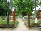 Входные ворота - Павлины :: Входные ворота изготовленные из дерева, заказать данную продукцию Вы можете по телефонам: 8 (495) 783-65-09, 8 (495) 518-64-87