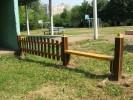 Забор с лавочкой :: Заказ изготовления заборов и оград из дерева в нашей компании по телефонам: 8 (495) 783-65-09, 8 (495) 518-64-87