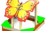 Песочница - Полет бабочки:: Заказать изготовление песочниц и песочных двориков, Вы можете по телефонам: 8 (495) 783-65-09, 8 (495) 518-64-87